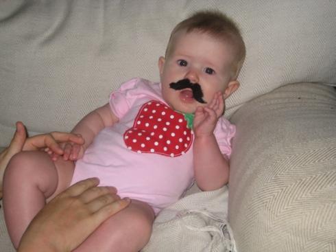 Strawberry mustache?